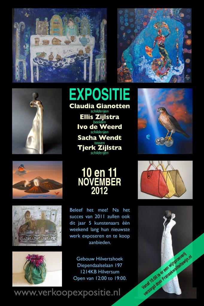 Poster Uitnodiging expositie 2012